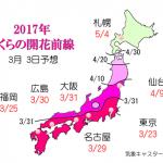 WCN さくらの開花予想2017 第4回