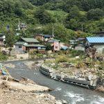 岩手県岩泉町で去年の台風10号の被災地の見学会が開催されました(2017年9月16日)