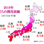 WCN さくらの開花予想2018 第5回