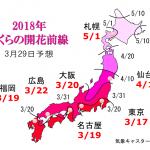 WCN さくらの開花予想2018 第7回