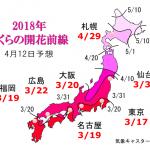 WCN さくらの開花予想2018 第9回