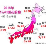 WCN さくらの開花予想2018 第10回