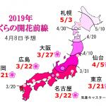 WCN さくらの開花予想2019 第8回