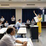 小千谷市、国土交通省信濃川河川事務所「お天気キャスターとつくるマイ・タイムライン」を実施しました(2019年9月10日)